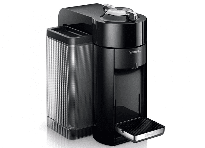 Upclose image of the Nespresso Evoluo coffee maker
